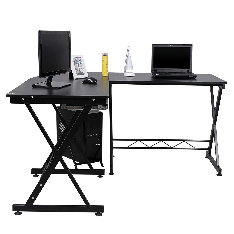 Písací rohový stôl SKU Max čierny