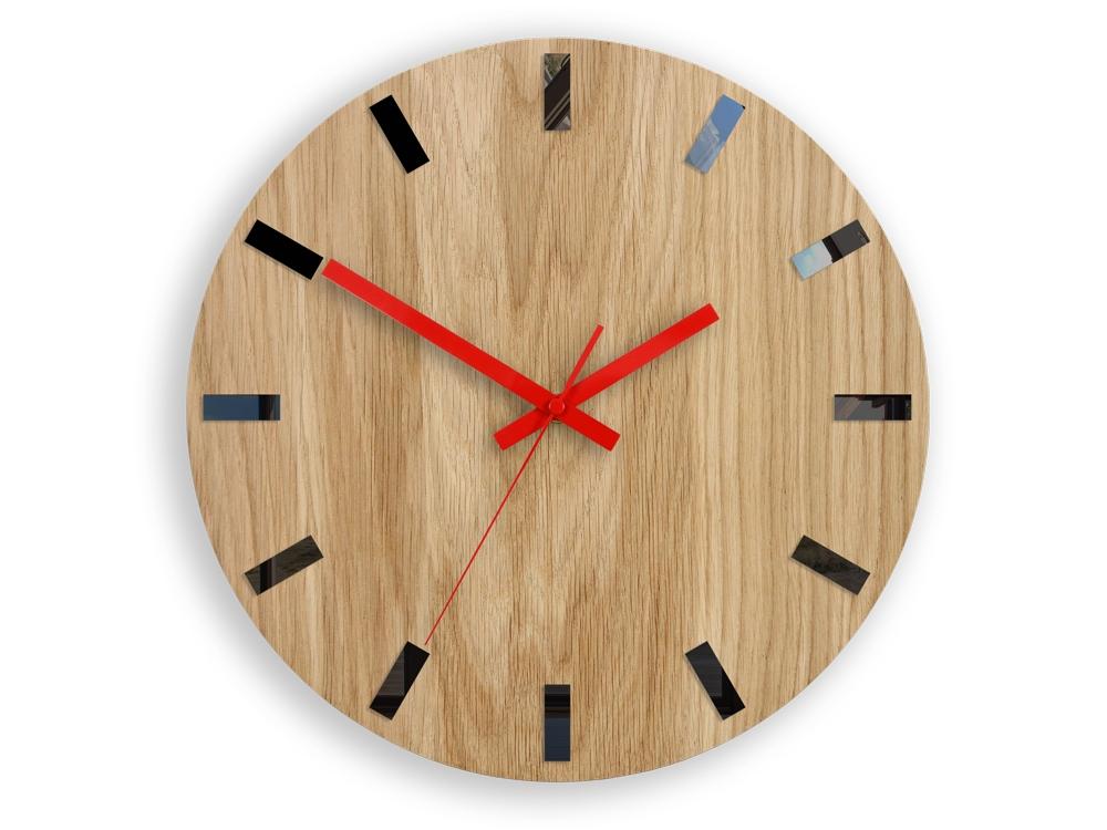 Nástěnné hodiny SImple-Y hnědo-červené