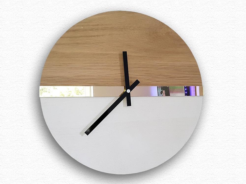 Nástěnné hodiny Dab hnědé
