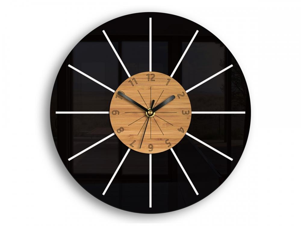 Nástěnné hodiny Leon černé
