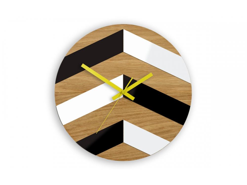Nástěnné hodiny CikCak hnědo-černé