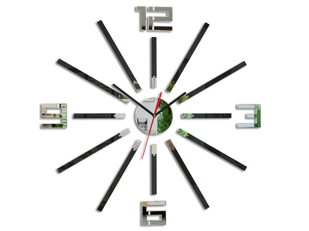 Nástenné hodiny Glamour Sheen čierne