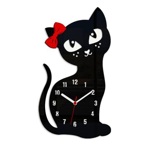 Nástenné hodiny Cat čierne