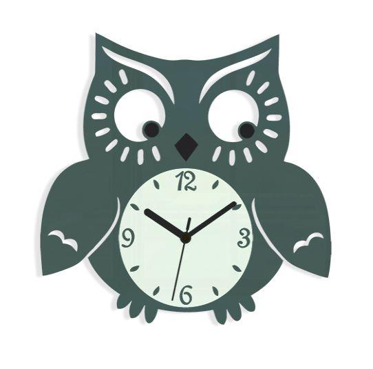 Nástenné hodiny Owl sivé