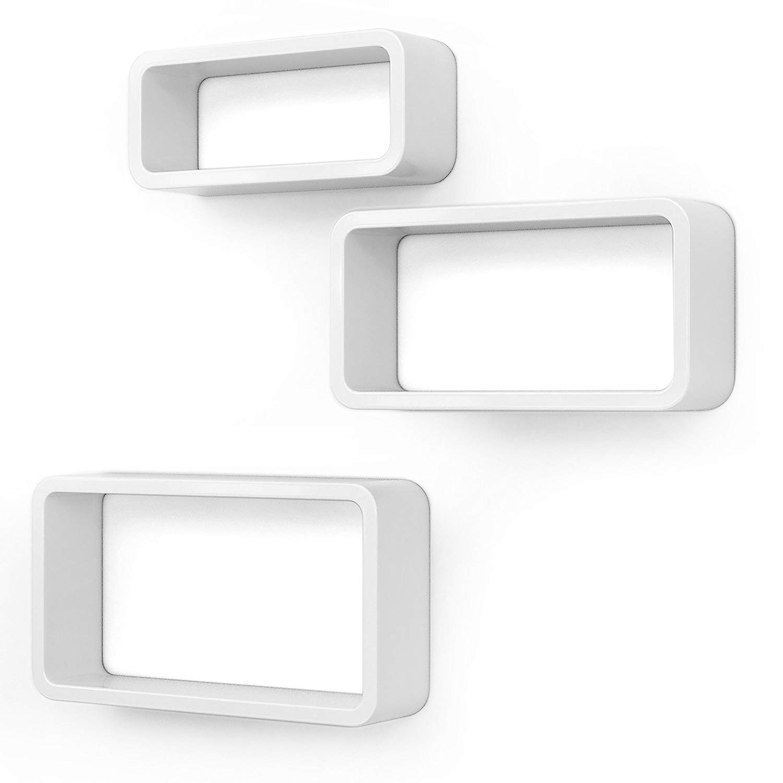 Nástěnné police Leab bílé - 3 kusy
