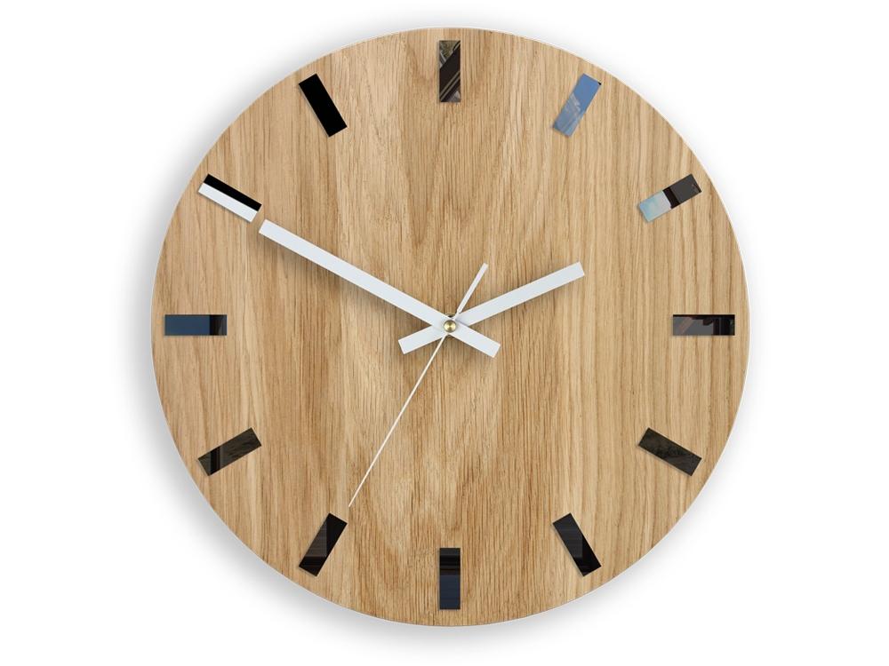 Nástěnné hodiny Simple-W hnědo-bílé