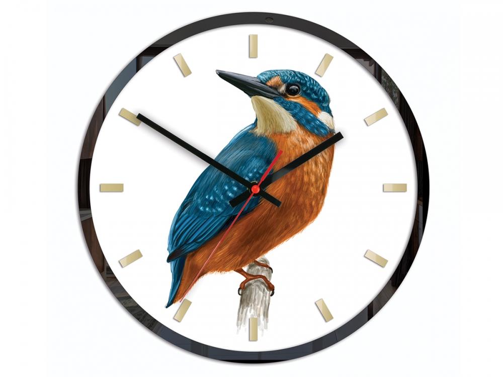 Nástěnné hodiny Bird Unikat bílé