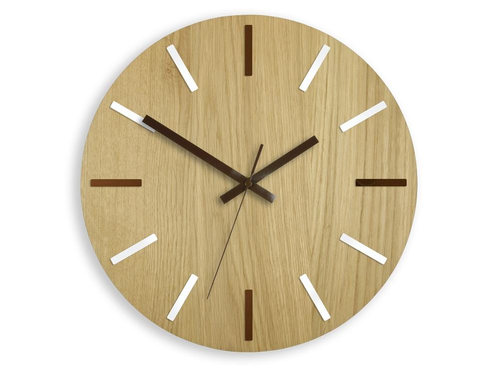 Nástěnné hodiny Wood Solo hnědé