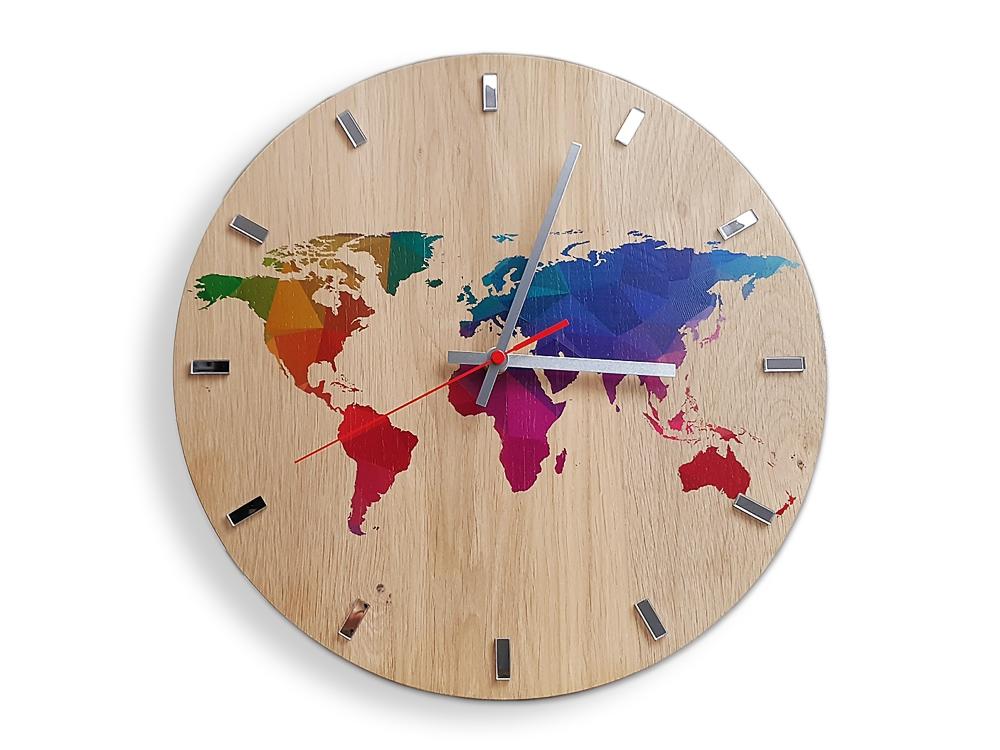 Nástěnné hodiny World Wood hnědé