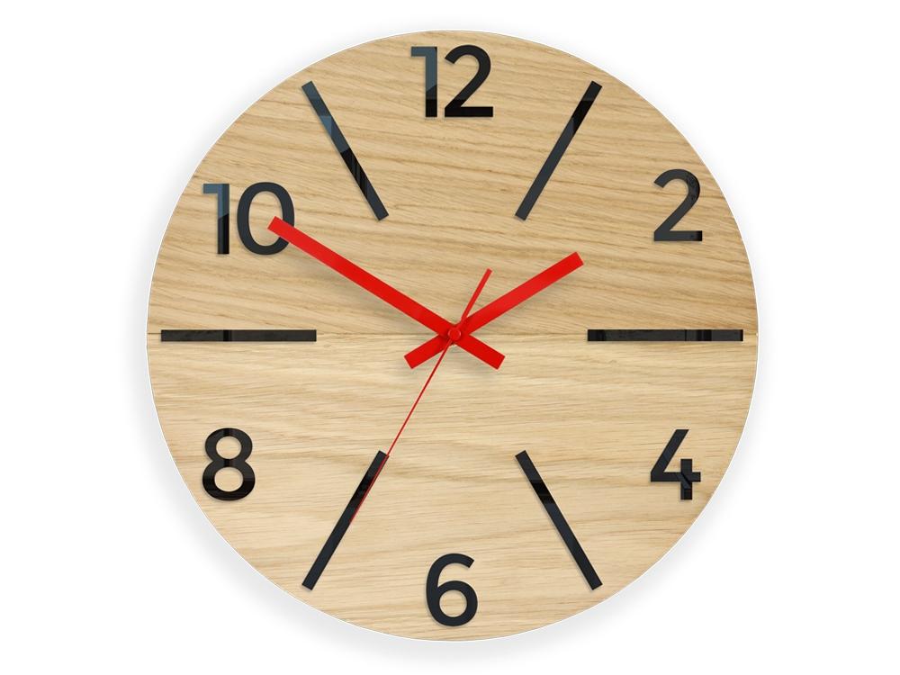 Nástěnné hodiny Akselod hnědo-červené