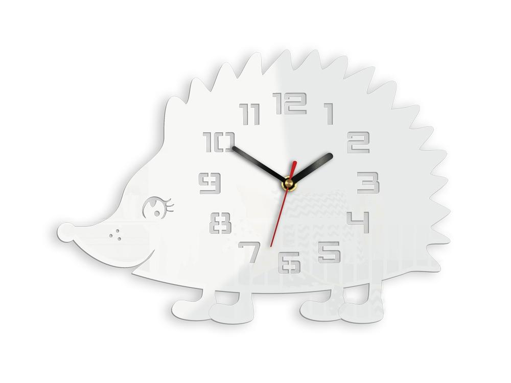 Nástenné hodiny Ježek biele