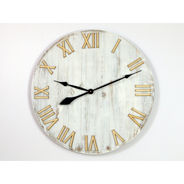 Nástěnné hodiny Old bílé