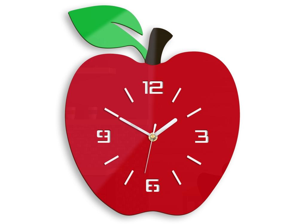 Nástenné hodiny Apple červené