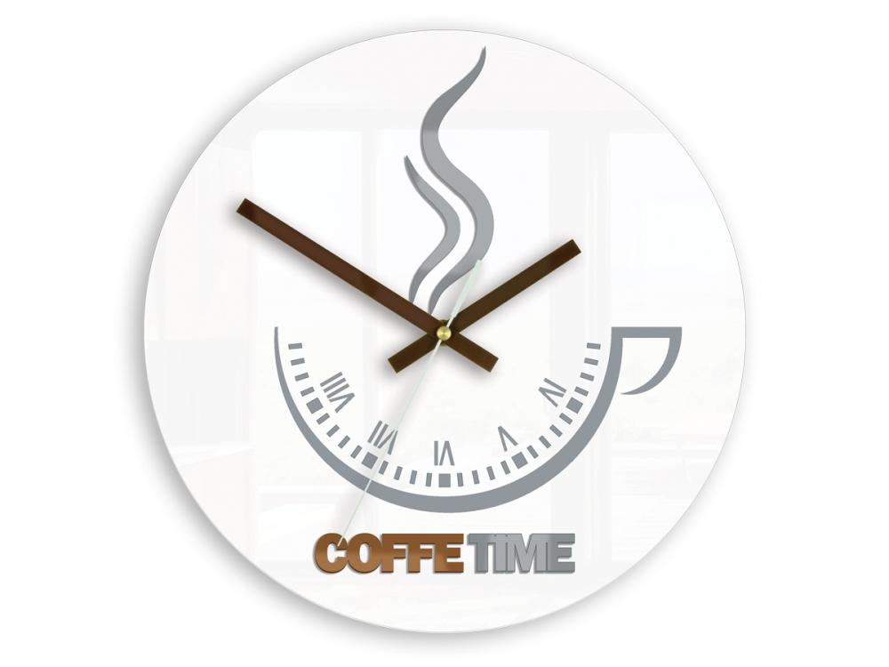Nástěnné hodiny Coffe Time bílé