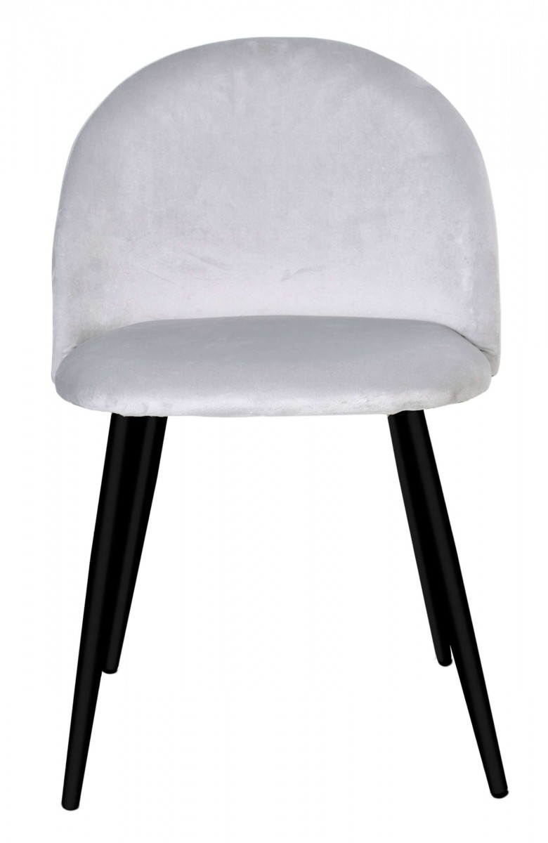 Židle SOUL VELVET stříbrná