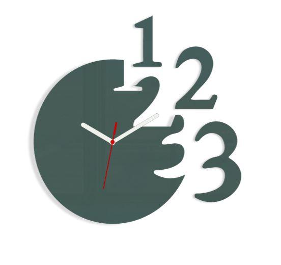 Nástěnné hodiny Numero šedé