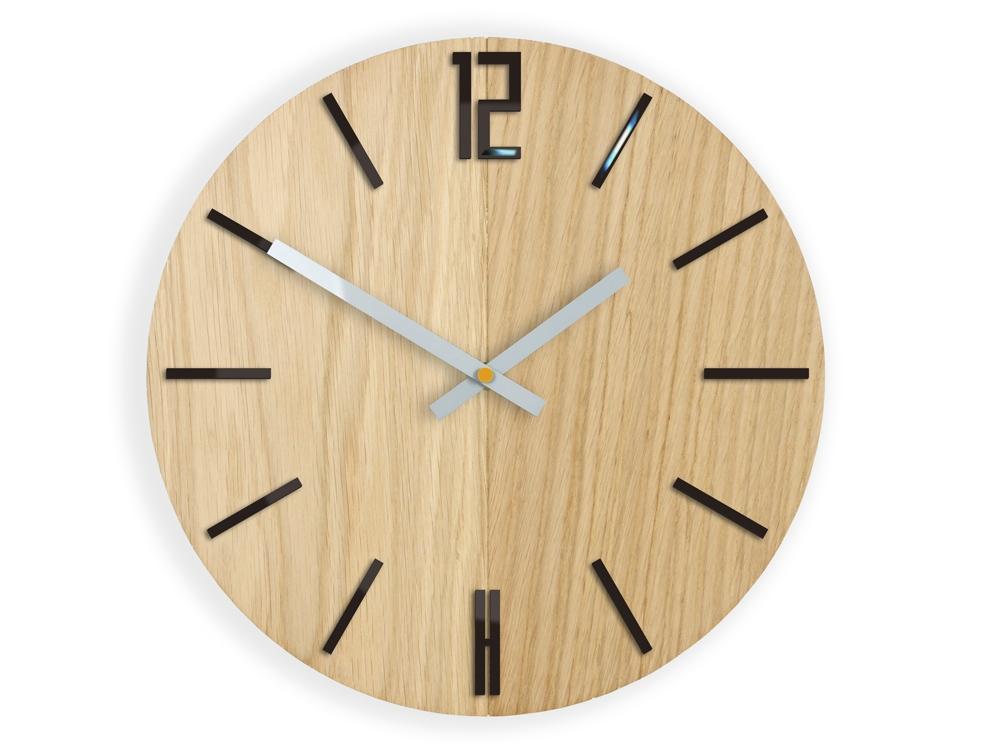 Nástěnné hodiny Carlo Wood hnědé