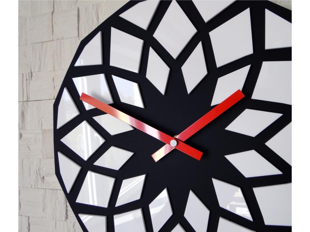 Nástěnné hodiny Lotos černo-červené
