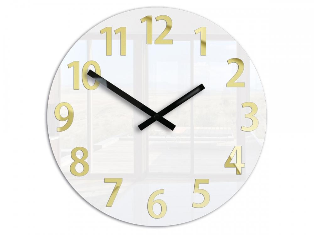 Nástěnné hodiny Karda bílé