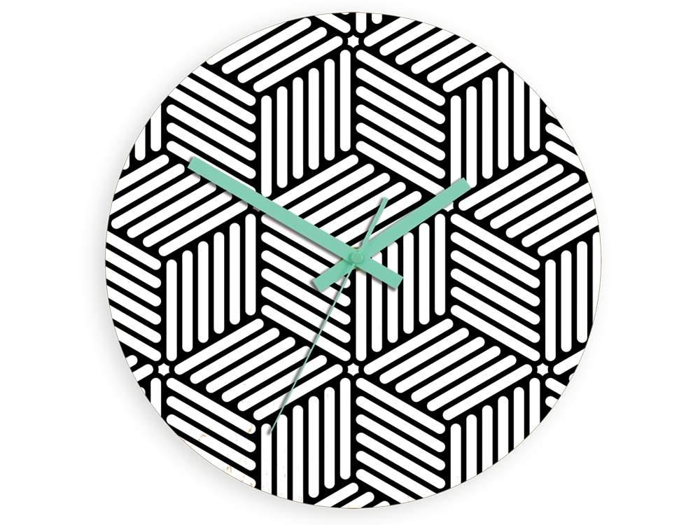 Nástěnné hodiny Hektor černo-bílé