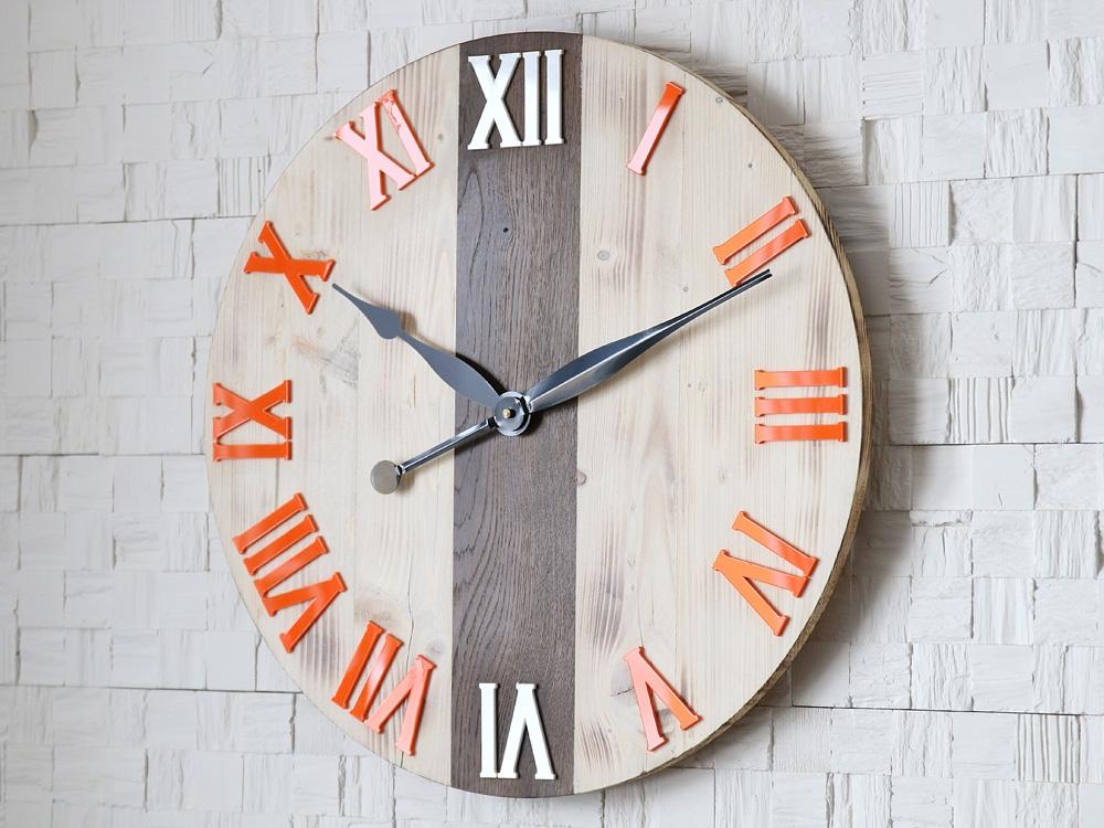 Nástěnné hodiny Eden hnědo-oranžové
