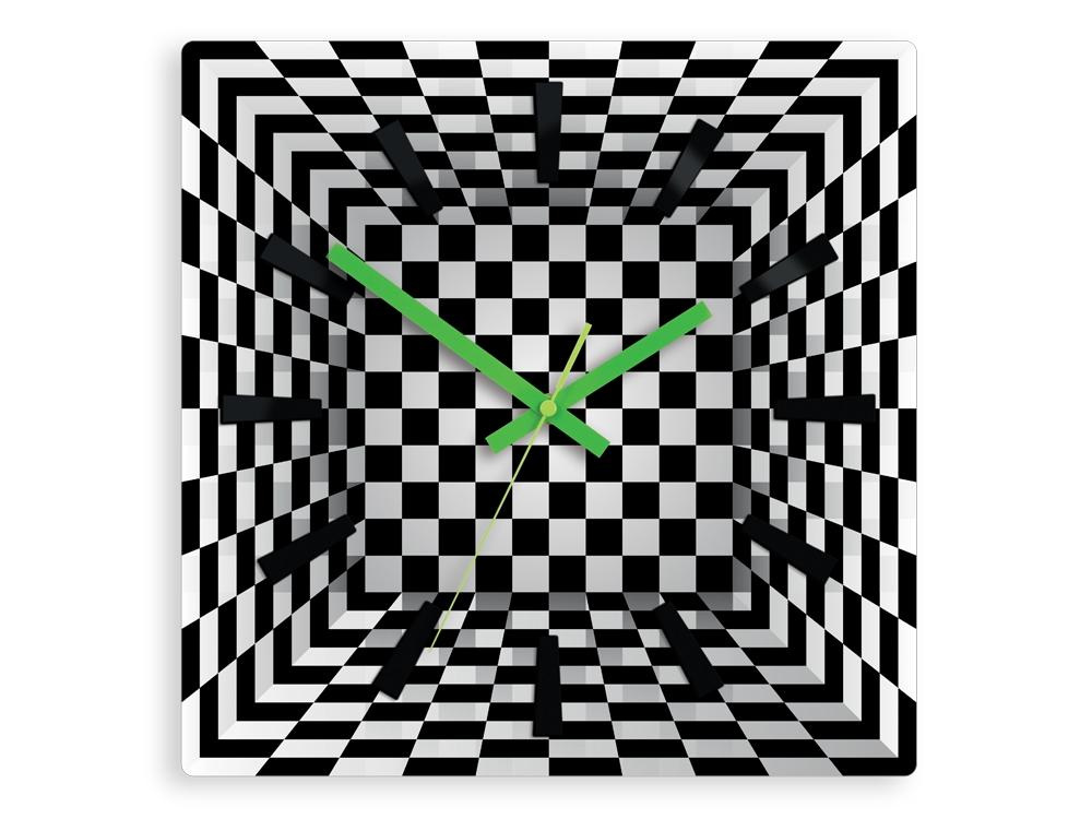 Nástěnné hodiny Ilusion černo-bílé